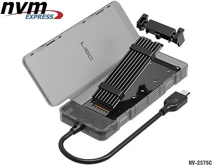 NVMe M.2 SSD a USB 3.1 Gen2 Caja de Carcasa con USB Tipo C Cable,