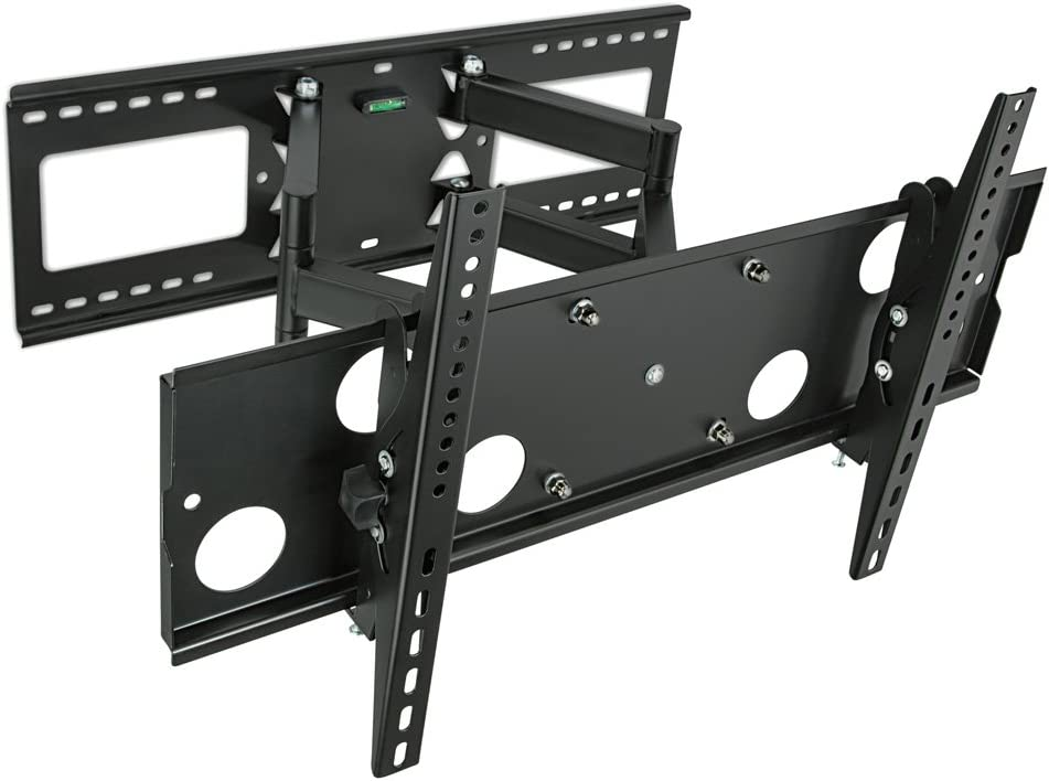 Amazon Com Mount It Articulating Tv Wall Mount For 32 65 Lcd Led Plasma Flat Screen Tvs Full Motion 165 Lbs Capacity Black Mi 2291 Home Audio Theater