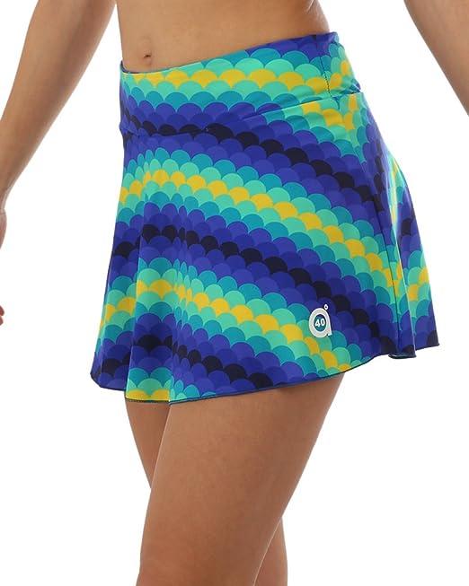 a40grados Sport & Style Olas Falda Estampada de Tenis, Mujer