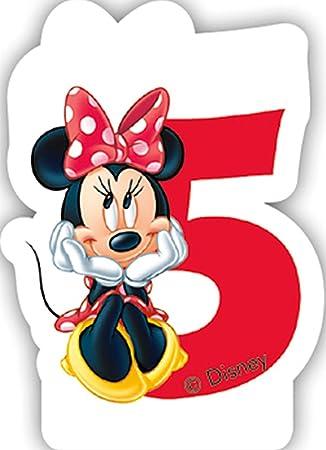 Vela Número 5 * * Minnie Mouse para niños Cumpleaños/Fiesta ...
