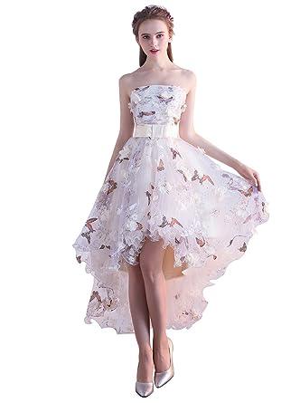 0b15024747bda 花柄 パーティードレス 花嫁 ウエディングドレス プリント ワンピース 結婚式ドレス チューブトップ カクテルドレス