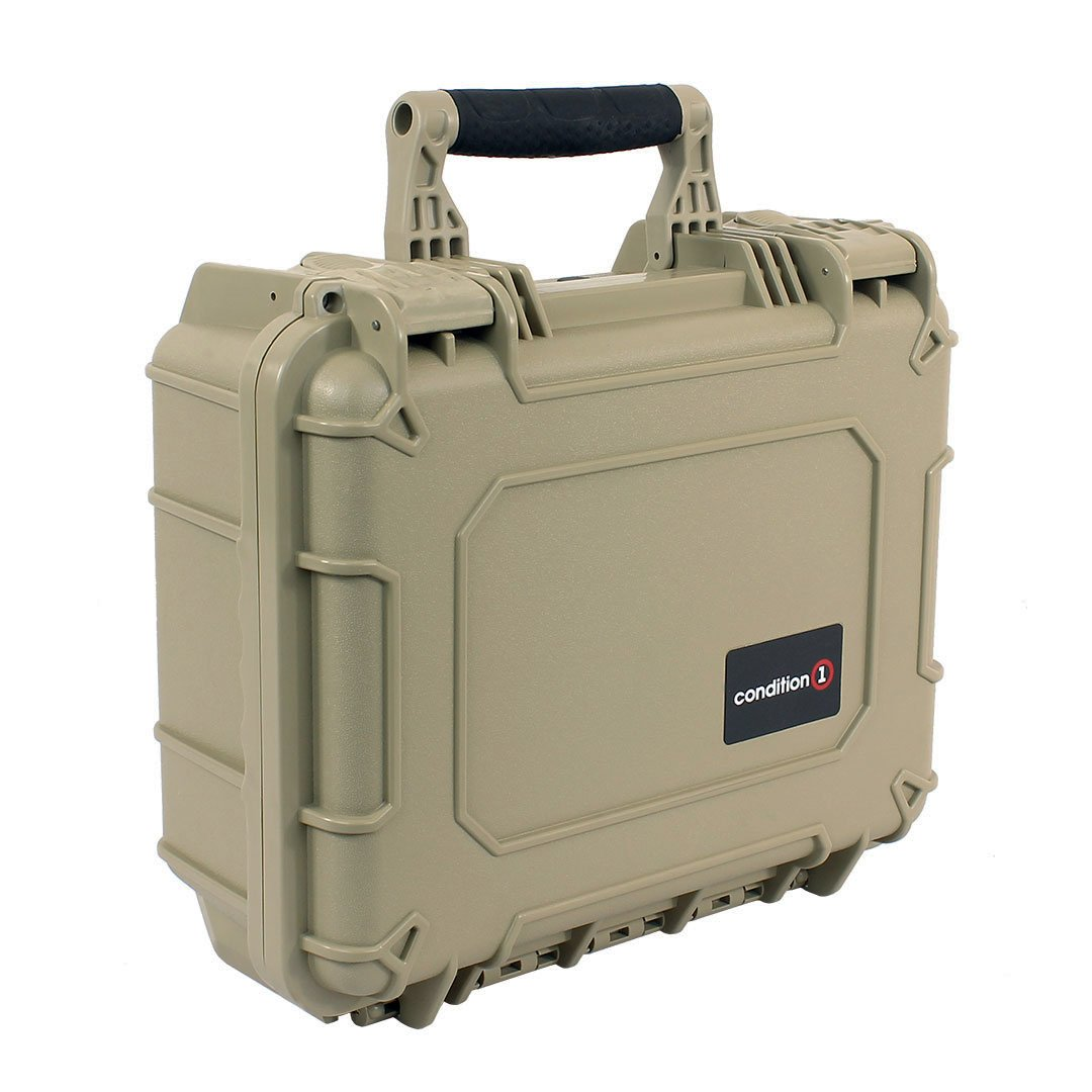 Condition 1 14'' Medium #075 Tan Waterproof Carrying Case with DIY Customizable Foam