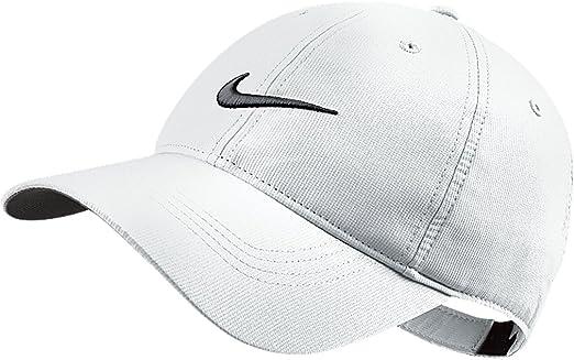 Nike Cap - Gorra de Golf para Hombre, Color Blanco/Negro, Talla UK ...