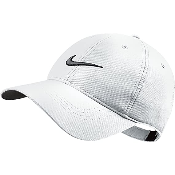 8746c8d530 Amazon.com: Nike Tech Swoosh Cap, Black/White, One Size: Sports & Outdoors