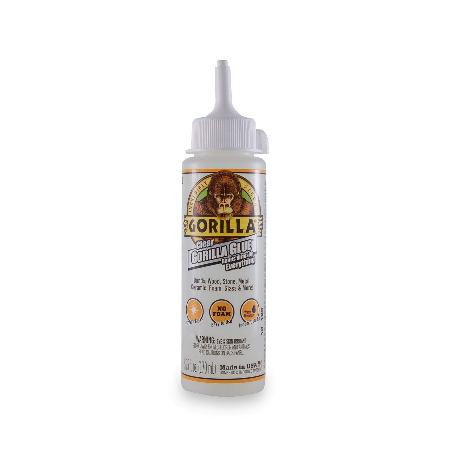 Gorilla Clear Glue, 5.75 ounce Bottle, Clear (Pack of 1)