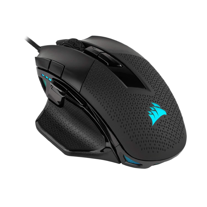 Corsair Nightsword RGB, Performance Tunable FPS/MOBA Gaming Mouse, Black, Backlit RGB LED, 18000 DPI, Optical by Corsair