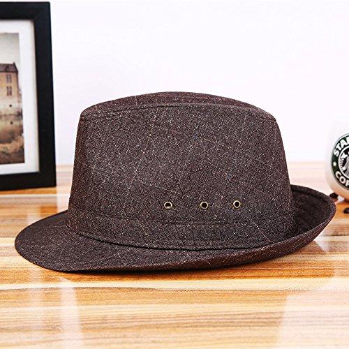 escuela el visera hop sombrero Sombrero hip libre unidos sombrero 58cm sombrero sombrero viento marrón sol estados sombrero gorra deportes transpirable Europa al viento y aire qSS0Hngwp