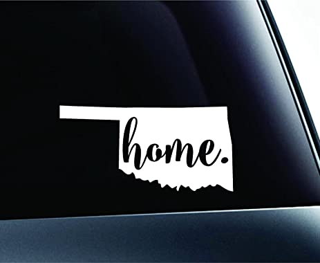 Home oklahoma state oklahoma city symbol sticker decal car truck window computer laptop white