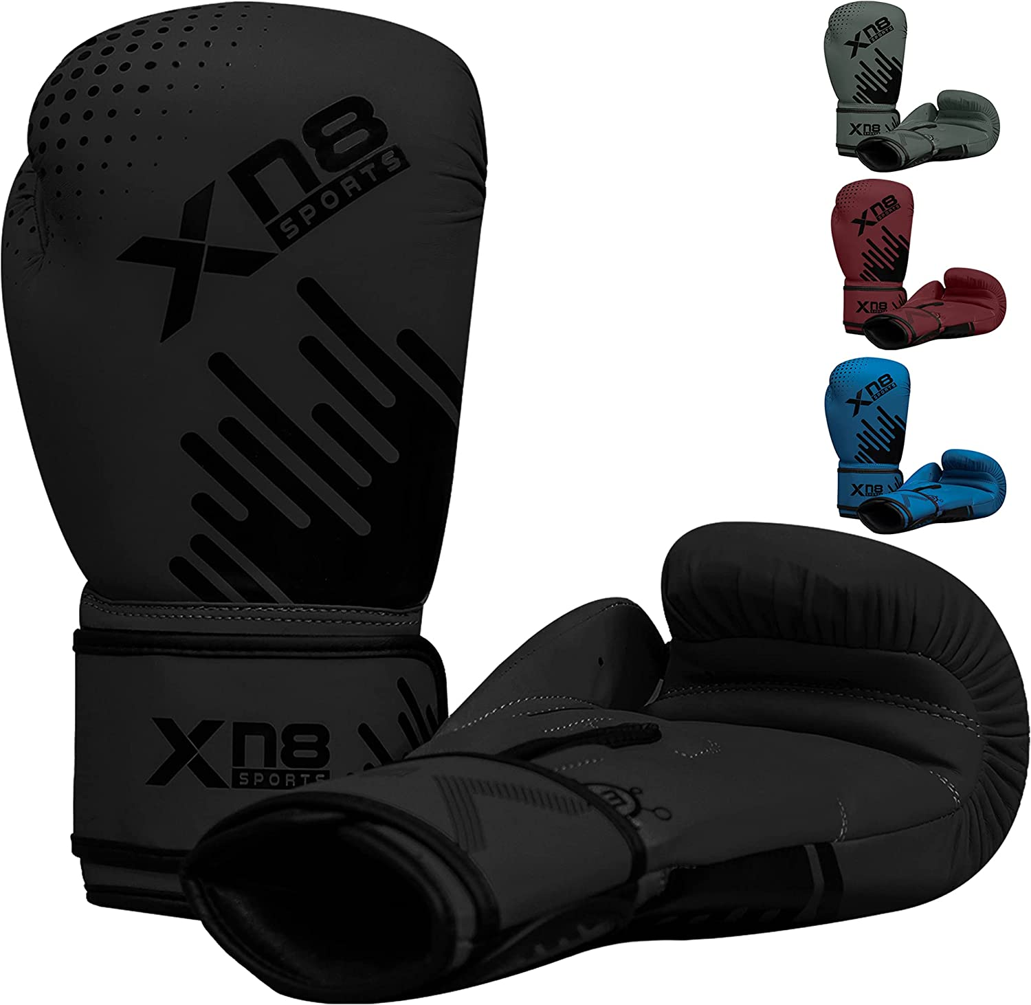 XN8 Boxing Gloves Training Muay Thai for Sparring-Kickboxing-MMA-Fighting-Punching Bag Mitts