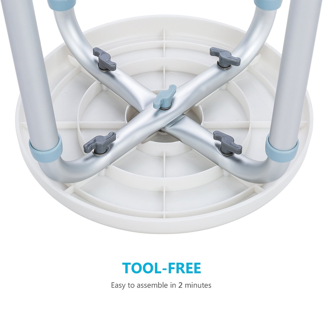 OasisSpace 360 Degree Rotating Shower Chair, Tool Free Adjustable ...