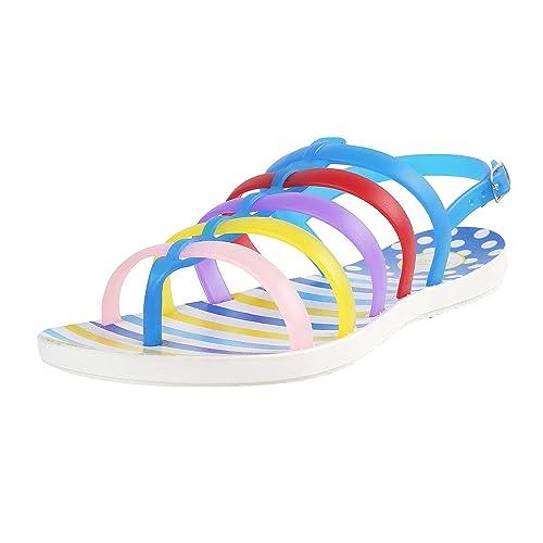 b08847054 Metro Women Blue Monsoon Sandals  Amazon.in  Shoes   Handbags