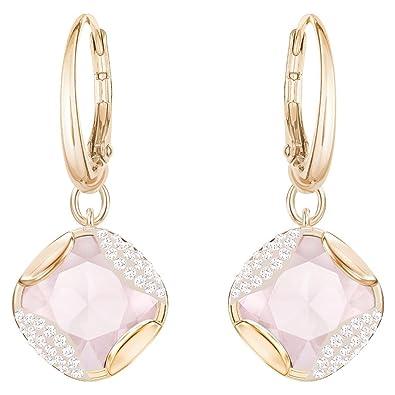 d9e66774e82e Swarovski Women Gold Plated Dangle   Drop Earrings - 5351134  Amazon.co.uk   Jewellery