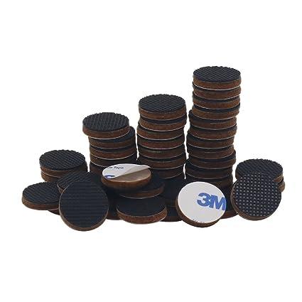 Tenn Well Non Slip Furniture Pads, 48pcs 3/4u0027u0027 Round Self