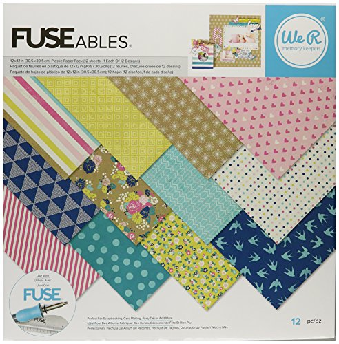 We R Memory Keepers 12 Sheet Fuseables Patterned Paper Pack, 12 x 12