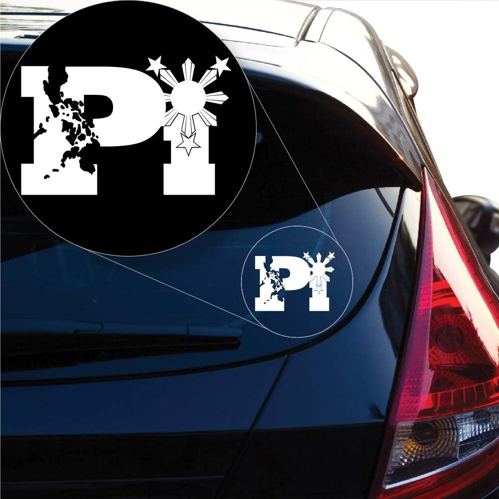 3S MOTORLINE 2 Pack 4 Pilipinas Three Stars Sun Philippines Filipino Decal Sticker Car Vinyl no bkgrd