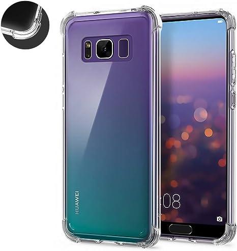 2 Pack] AChris Funda Cristal para Samsung Galaxy S8 Plus Protector ...