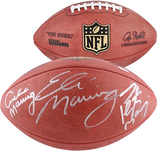 Archie, Eli, and Peyton Manning Autographed Duke Pro Football - Fanatics Authentic Certified - Autographed (Peyton Manning Signed Authentic Football)