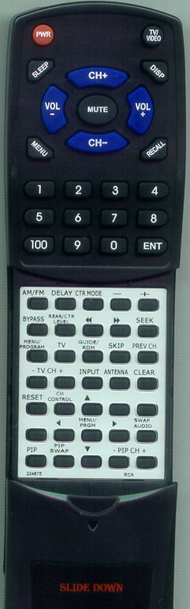 Replacement Remote Control for RCA RP9978, RP9953, 224875, RV3798, RV9935A, RV9910A