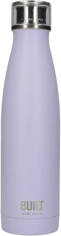Creative Tops Built Seal-Botella de Acero Inoxidable con Aislamiento de Doble Pared Negra Matte Black 17 FL oz//480 ml