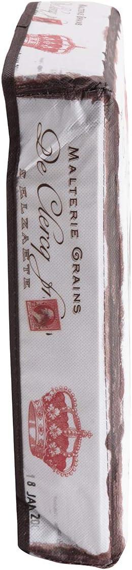 Coffre de Rangement intiss/é Motif Parisien sur Fond Blanc 30x30x30cm Wedestock Pouf Pliant