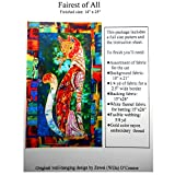 "Applique Quilting Quilt Pattern Only, ""Fairest of All"", Cat Design, Full Size Pattern & Instruction"