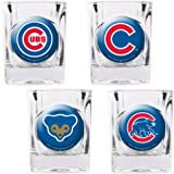MLB Chicago Cubs 4-Pack 2oz. Shot Glass Set