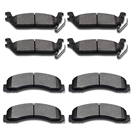 ECCPP 4pcs ATD1012C Rear Ceramic Disc Brake Pads for 2004 2005 2006 2007 2008 2009 2010 2011 Ford F-150 2006 2007 2008 Lincoln Mark LT