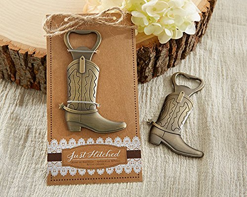 (Kate Aspen Just Hitched Cowboy Boot Bottle Opener - Set of 6 - Perfect Wedding Favor or Guest Gifts for Bridal Showers, Baby Showers, Birthdays, Anniversaries or Other Celebrations)