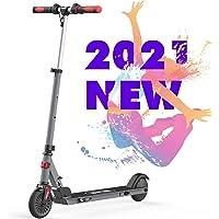 RCB Patinete Eléctrico para Niños, Eléctrico Scooter Plegable Ajustable, Velocidad Máx 20 km/h, Ligero Impermeable IP4…