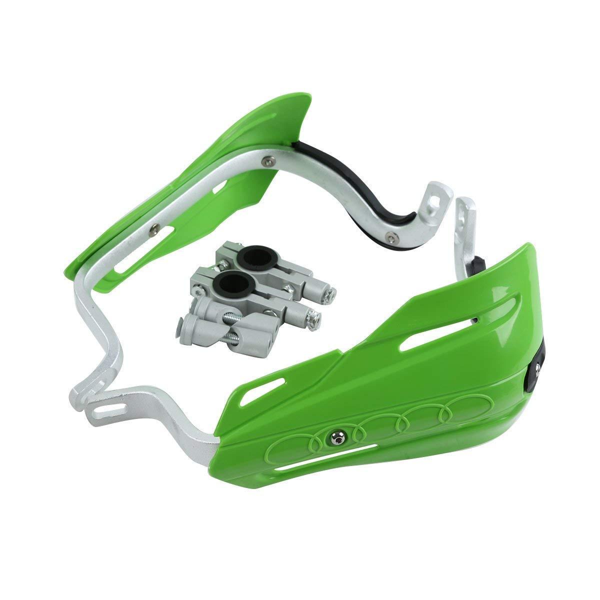 TCMT Green 7//8 22mm Handlebar Hand Brush Guard Handguards For Kawasaki KLR650 KLX110 KLX250 KX450F