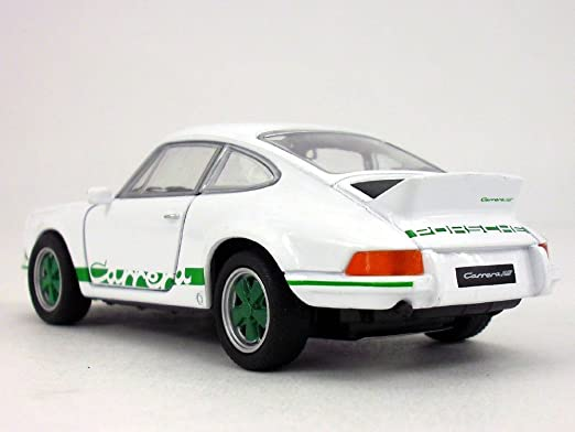 Amazon.com: 4.5 inch 1973 Porsche 911 Carrera RS 1/32 Scale Diecast Model by Welly - White/Green: Toys & Games