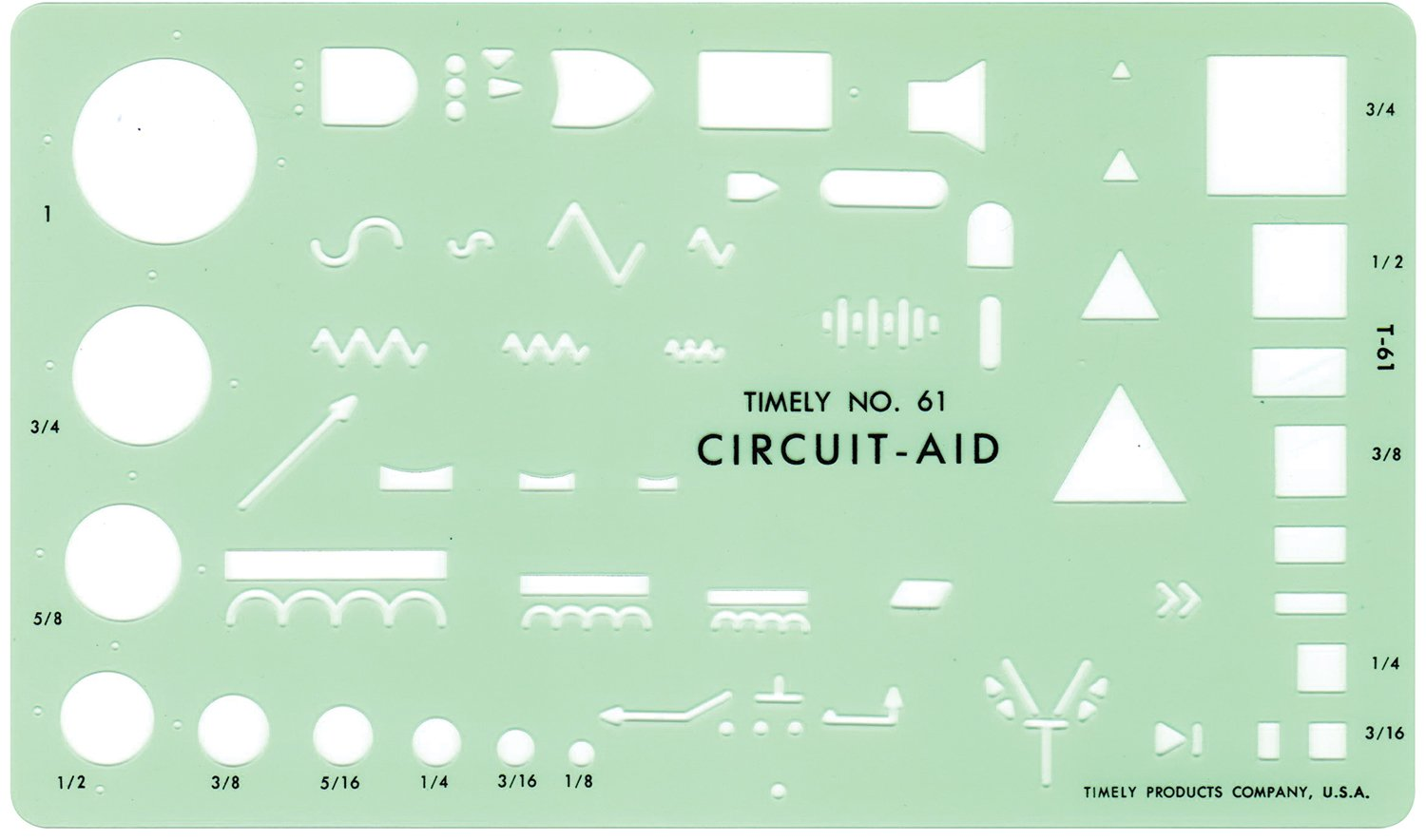 Amazon Timely Circuit Aid Template Drafting Tools Office