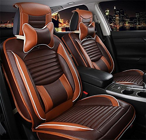 Programmable luxury leather seat covers car seats 5 Overall universal fit easy to clean anti-slip Four Seasons Car Seat Cushion by YAOHAOHAO (Image #2)