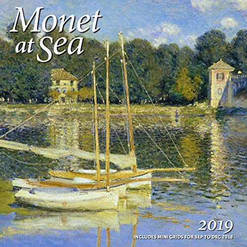 Monet at Sea Wall Calendar 2019 Monthly January-December 12'' x 12