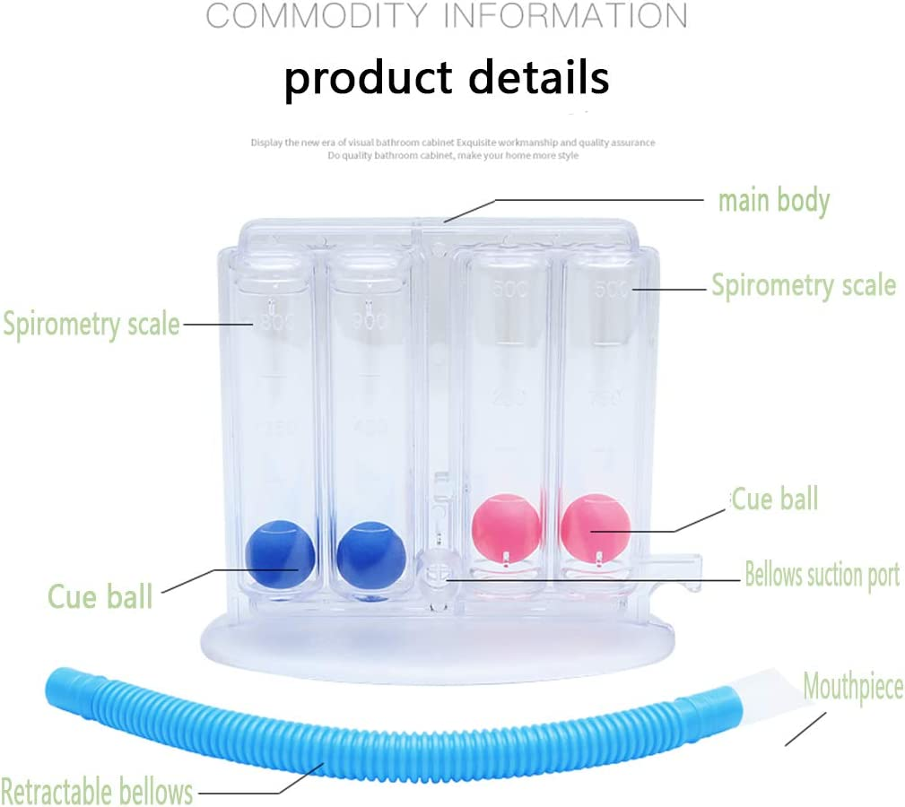 CLIng Breathing Training Device,Breathing Trainer Home Four-Ball Apparatus to Exercise Lung Breathing Function