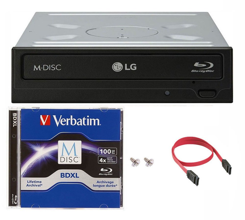 Lg 14x Wh14ns40 Internal Blu Ray Burner Bundle With 100gb Verbatim M Asus Bluray Writer Bw 16d1ht Disc Bdxl And Cable Accessories