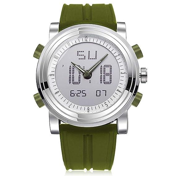 Reloj de Pulsera Deportivo analógico y Digital para Hombre, Correa de Silicona con retroiluminación, diseño clásico Militar