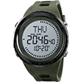 SKMEI NEW Compass Watch Mens Sports Watches 5ATM Water Proof Digital Outdoor Backlight Countdown Wrist Watches