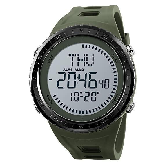 Skmei Outdoor Compass Watch Waterproof Chrono Countdown Led Digital Men Sports Watches Multifunction Men Wristwatches Male Watches