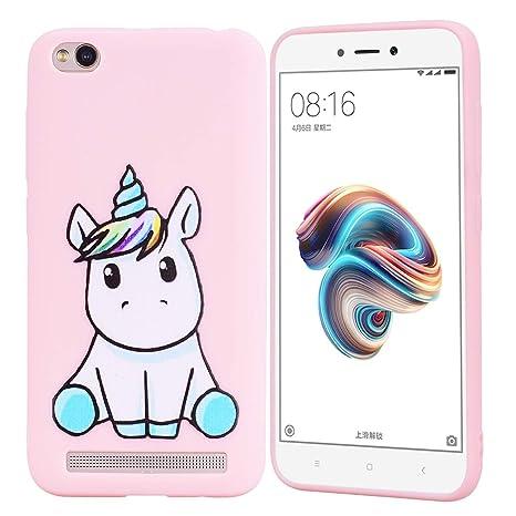 HopMore Funda Xiaomi Redmi 5A Silicona Motivo Unicornio Animal Divertidas Carcasa Redmi 5A Ultrafina Slim Case Antigolpes Caso Protección Design ...