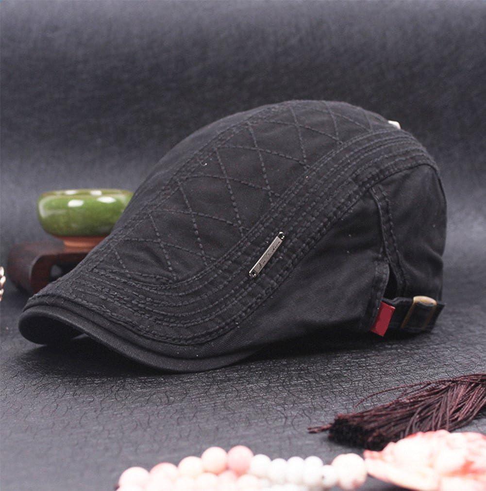 Outflower Femmes Chapeau b/érets D/ét/é Section Mince Coton Respirant Protection UV ext/érieure Voyage m/âle r/étro visi/ère Chapeau