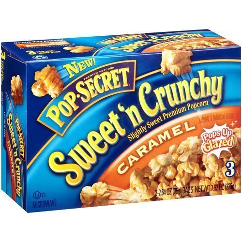 Pop-Secret Sweet 'N Crunchy Caramel Popcorn, 3 Bag Count/Box by Pop Secret by Pop Secret