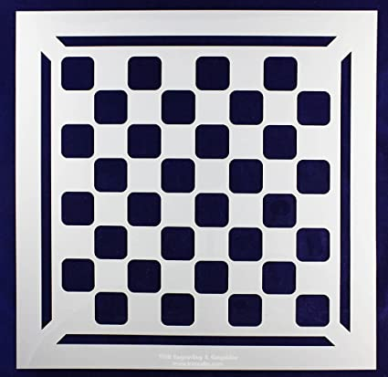 Amazon.com: Chess/Checkerboard Stencil w/Border 14 Mil -15\