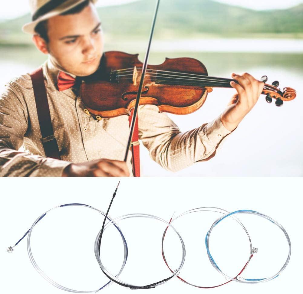 Natruss Nickel Silver Winding Violin String Set Fine Workmanship Professional Violin String Durable for Violin Lovers Beginners