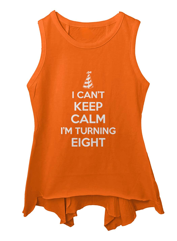 Tcombo I Cant Keep Calm Im Turning Eight Toddler//Youth Sleeveless Backswing