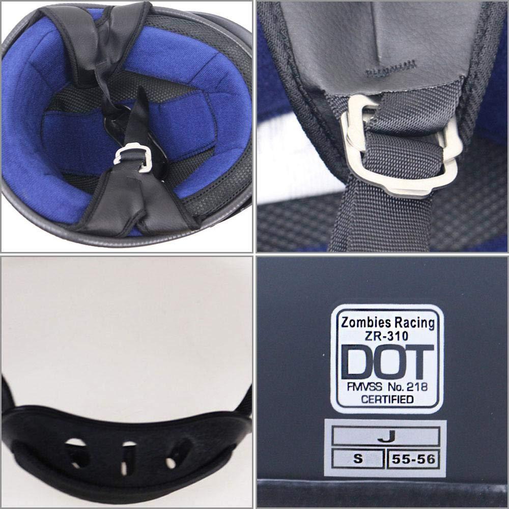 DokFin Adjustable Skull Cap Style DOT Approved Crash Helmet Motorcycle Motorcycle Half Helmet Matte /& Glossy Black for Men Women Bike Cruiser Chopper Moped Scooter ATV