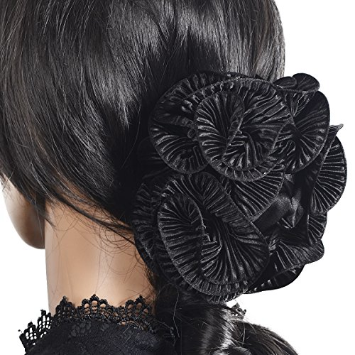 Large Hair Claw Clamp Jaw Clip Accessories Headwear F807 (F805-Black) ()