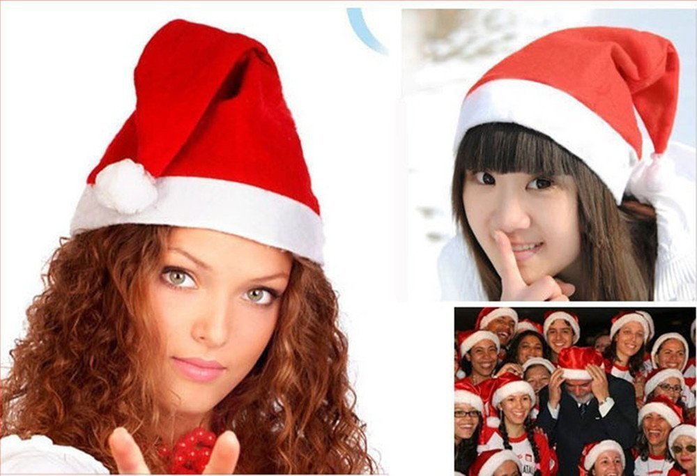 YYaaloa Pack of 24 Children Santa Christmas Hat for Holiday Parties Christmas Xmas Plays and Pageants(W H:25cm 34cm)