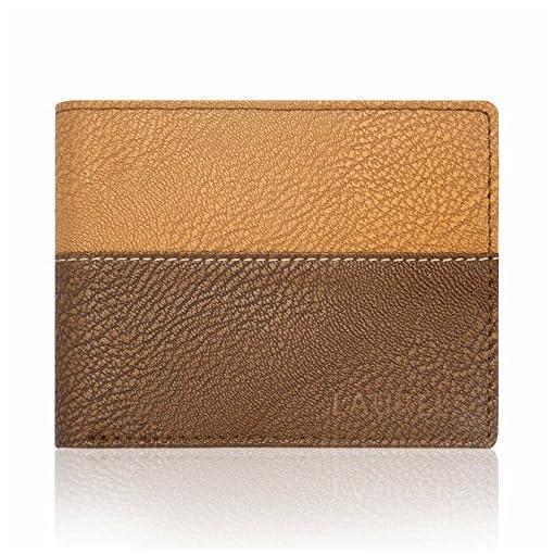 Laurels Diplomat III Tan & Brown Men's Wallet (Lw-Dip-III-06