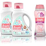 Dreft Stage 2, Active Hypoallergenic Liquid Baby Laundry Detergent for Newborn or Infant, 50 Ounces(32 Loads), 2 Count with I